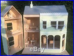 Honeychurch Dolls House Wooden 3 Storey 7 Rooms 20 Furniture Pre-Assembled RARE