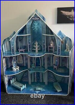 Huge Disney Frozen Castle Ice Wooden Mansion Dolls House