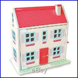 Indigo Jamm Wooden Hascombe Dolls House 13 Piece Furniture Set And 2 Wooden