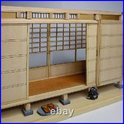 Japanese style Room SET of 3 Doll House Handmade Miniature Kit Wooden A101 1/12