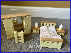 John Lewis Wooden Leckford Dolls House Complete With Furniture