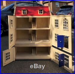 John Lewis Wooden Victorian Dolls House With Basement (+free Box Of Toys)