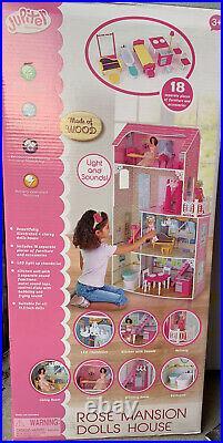 Jupiter Workshops Wooden Primrose 4 -Story Doll House Huge Loaded Withaccessories