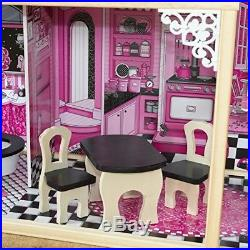 KidKraft Dollhouse Scale Girls Miniature Wooden Play Toy Furniture Kit Pink New