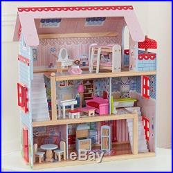 KidKraft Kid Craft Chelsea Doll Cottage Children House Wooden Game Play