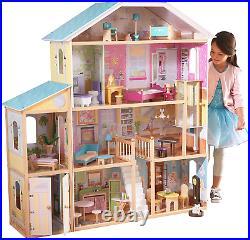 KidKraft Majestic Mansion Wooden Dolls House Furniture Girls Playset Fits Barbie