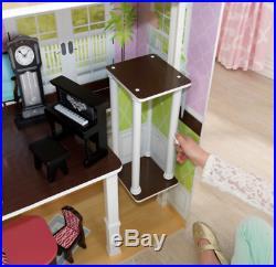 KidKraft Wooden Grand Estate Dollhouse +26 Pcs Furniture Fits Barbie Dolls