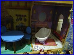 KidKraft wooden Disney Princess Castle Dolls House with Disney dolls