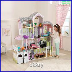 Kidkraft Grand Estate Wooden Girls Dolls House Furniture Fits Barbie Dollhouse