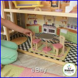 Kidkraft Kaylee Dollhouse Girls Wooden Doll House Fits Barbie Dolls FREE UK