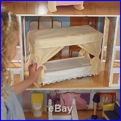 Kidkraft Savannah Dollhouse, Large Wooden Doll Mansion fits Barbie Dolls