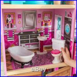 Kidkraft Shimmer Mansion Dollhouse Wooden Furniture + 30 Lifestyle Accessories