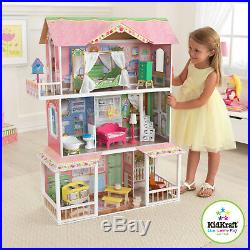Kidkraft Wooden Doll House Miniature Play Set Toy Furniture Kids Girls 13 Pieces