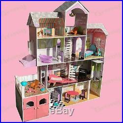 Kidkraft Wooden Kids Grand Estate Barbie Dolls House + 26 Pieces of Furniture