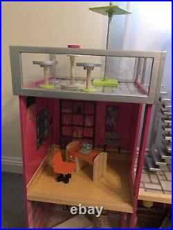 Kidkraft Wooden Uptown Dollhouse Furnished Good Condition