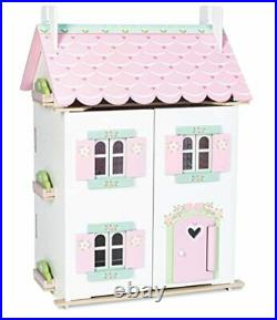 Kids Large Wooden Doll House With Furniture Sweetheart Cottage Toy Play Set