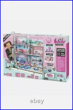 LOL 85+ Surprise Wooden Doll House with Light and Sound, 6 Rooms, 3 Story