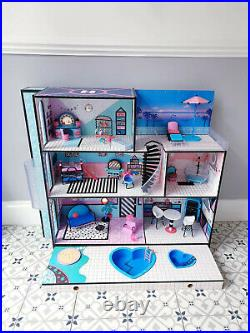 LOL Doll Surprise OMG Wooden House With Furniture, Accessories & Extras Bundle