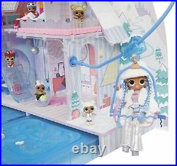 LOL Surprise OMG Winter Chill Cabin House Wooden Dollhouse With 95+ Surprises