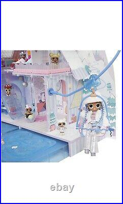 LOL Surprise OMG Winter Chill Cabin Wooden Doll House Playset with 95+ Surprises