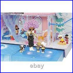 LOL Surprise OMG Winter Chill Cabin Wooden Doll House with 95+ Surprises, Hot