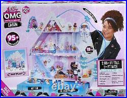 LOL Winter Chill Cabin Wooden Doll House 95+ Surprises Hot Tub Real Ice Skating