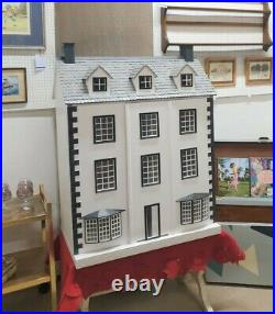 Large Georgian Style Wooden Dolls House Refurbished and Refreshed
