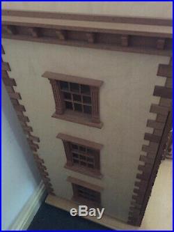 Large Georgian Wooden Dollhouse