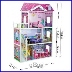 Large Wooden Doll House Julia + 18 pieces of furniture