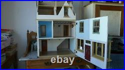 Large wooden dolls house Traditional. COLLECT ONLY