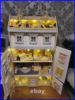 Large wooden dolls house furniture