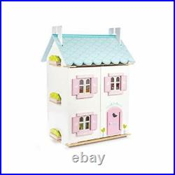 Le Toy Van Gorgeous Wooden Bluebird Dolls House & Furniture Large Wooden Do