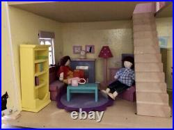Le Toy Van Wooden Lilac Cottage (with all accessories pictured)