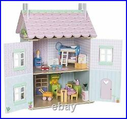 Le Toy Van Wooden Sweetheart Cottage Doll's House with furniture Toy Toys Doll