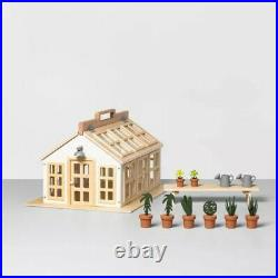MAGNOLIA Hearth & Hand Real Wooden Toy Greenhouse Doll House 12 Pc Gardening NEW