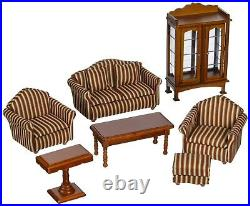 Melissa Doug Victorian Wooden Upholstered Dollhouse Furniture Scale 1-12 Toy New