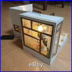 Miniature Wooden Dollhouse Assembled Scandinavian Style Free Shipping From Jpn