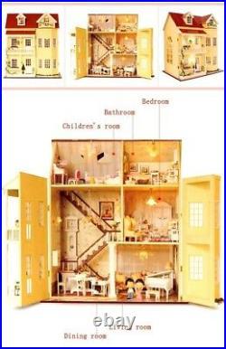 Miniature Wooden HAndmade DIy Doll House Furniture Kit Children Toys Gift