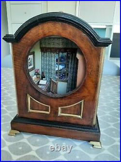 OOAK 1/12th scale dolls house handmade miniature scene in old wooden clock case