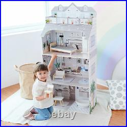 Oliva's Little World Dolls House Wooden Doll House with 8 Accessories TD-11683D