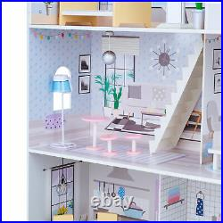 Oliva's Little World Grand Wooden Doll House With 16 Doll Accessories TD-12383E