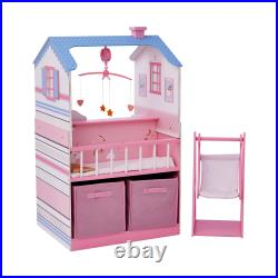 Olivia's Little World Childrens Wooden Doll Changing Station Dollhouse TD-11460W