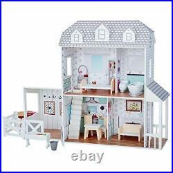 Olivia's Little World Wooden Dolls House & Dreamland Farm House & 14 Accessories