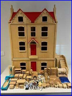 Pintoy dolls house Victorian wooden toys John crane