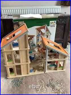 Plan Toys Chalet Style Wooden Dolls House Excellent Condition + Original Box