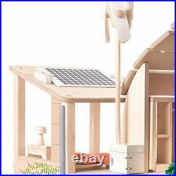 Plan Toys Green Doll House with Furniture 3+ 7156 Wooden DIY Dollhouse Play Kit