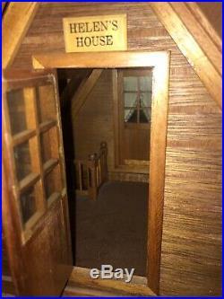 Rare Vintage Wooden Dolls House/ Chalet