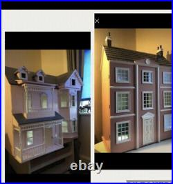 Reduced! Large Wooden Dolls House With Full Tested Electrics