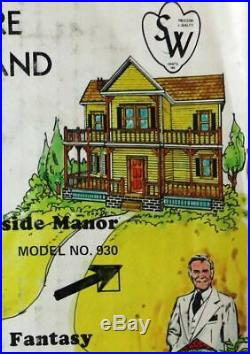 S/W Craft MINIATURE WONDERLAND Dollhouse Lakeside Manor 930 A&B KIT SET NOS NRFB