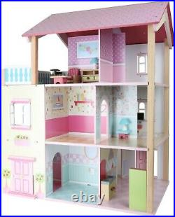 Small Foot Doll's House Pink Roof 3 Stories revolving 3126 Doll Toy Wood wooden